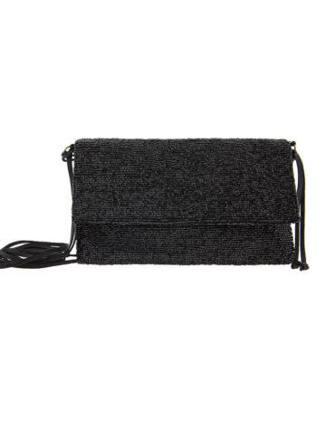 Cartera bordada negra Alibey